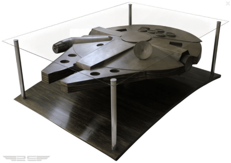 The star wars millennium falcon coffee table bit rebels for Table basse vitrine