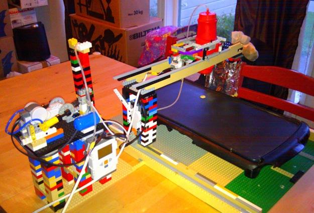 Lego Robot Pancake Machine
