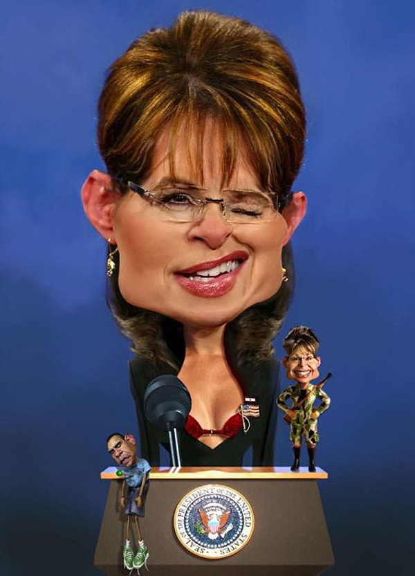 Palin Caricature By Rodney Pike
