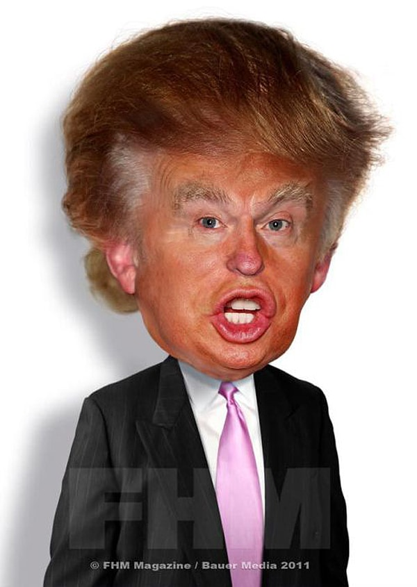 Donald Trump Caricature Rodney Pike
