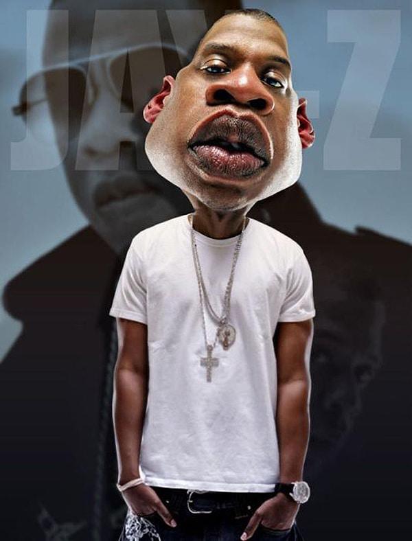 Jay-Z Caricature By Rodney Pike