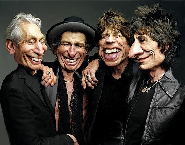 Rolling Stones Caricature Rodney Pike