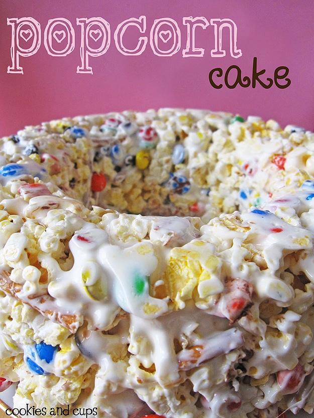 Gooey Sticky Popcorn Cake: The Ultimate Movie Snack