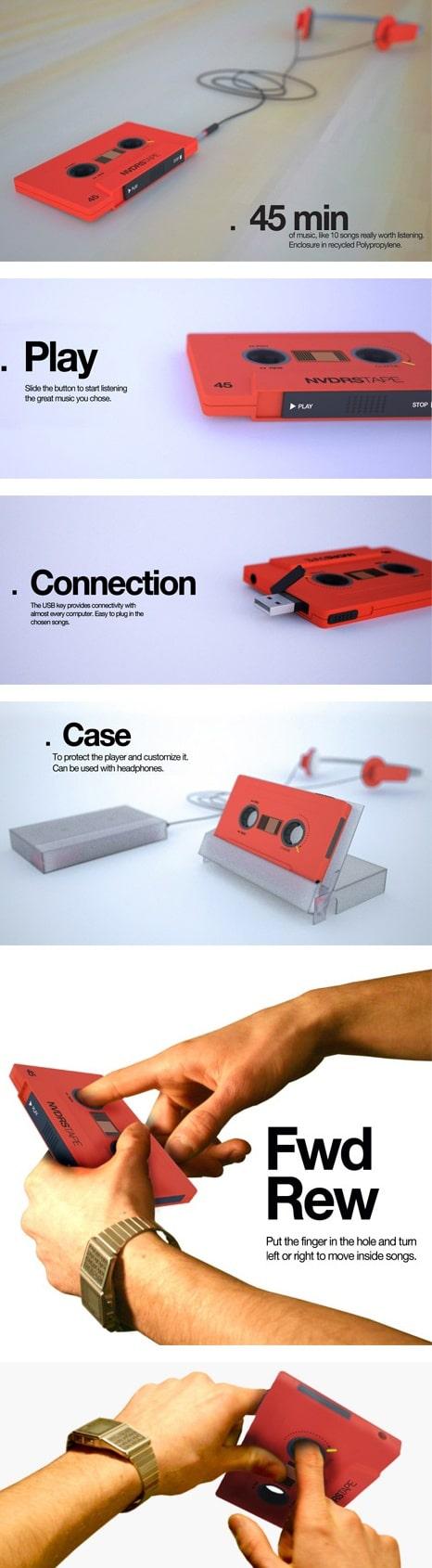 Retrofied Cassette MP3 Player Design