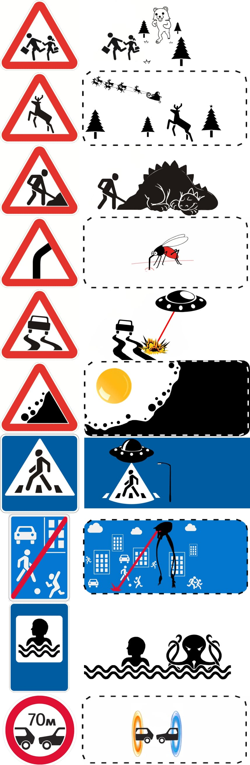 Road Signs Bigger Picture Design