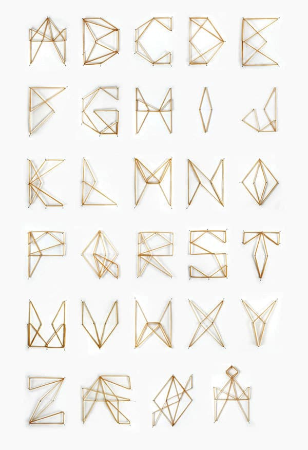 The Elastic Alphabet: Rubber Band Typography