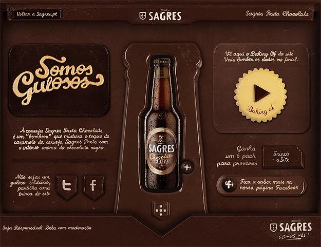 Sagres Chocolate Beer Site