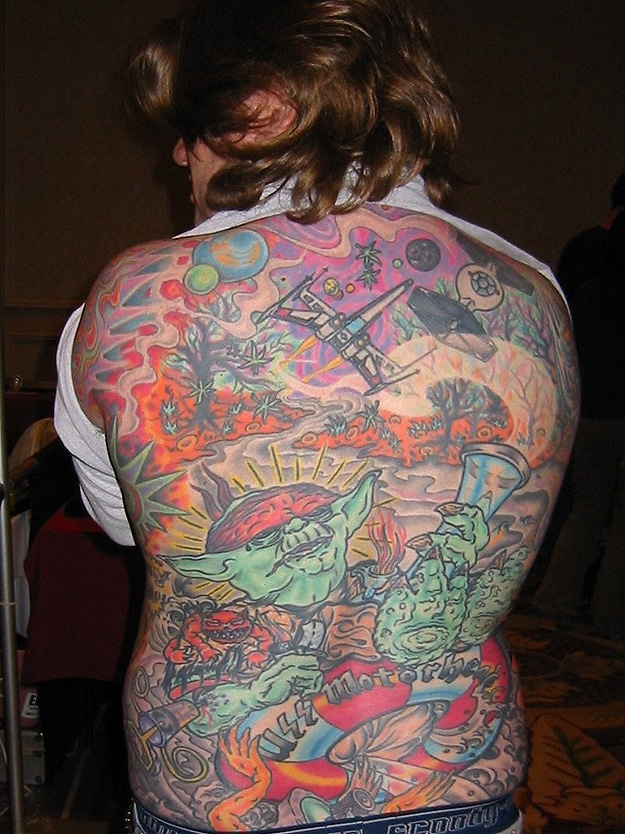 Huge Colorful Star Wars Tattoos