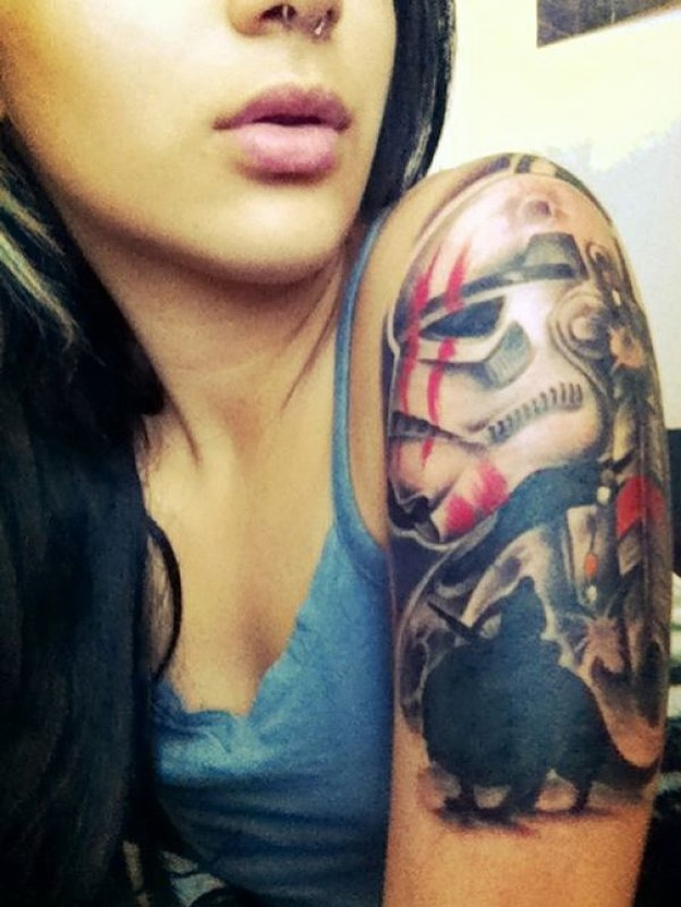 Geek Star Wars Arm Tattoo