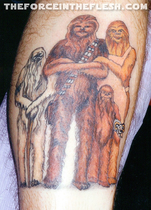 Chewbacca Family Star Wars Tattoo