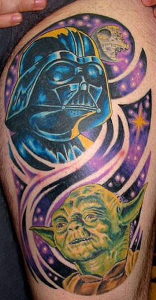 Colorful Star Wars Arm Tattoo