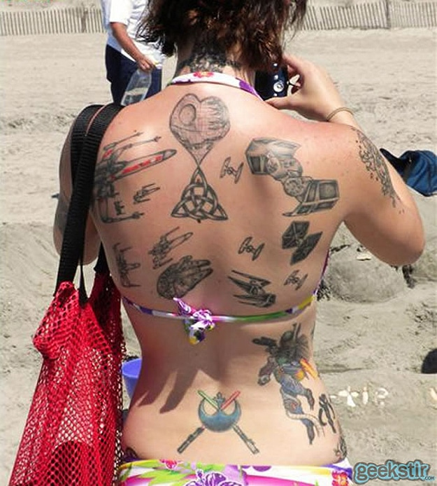 Star Wars Beach Back Tattoo