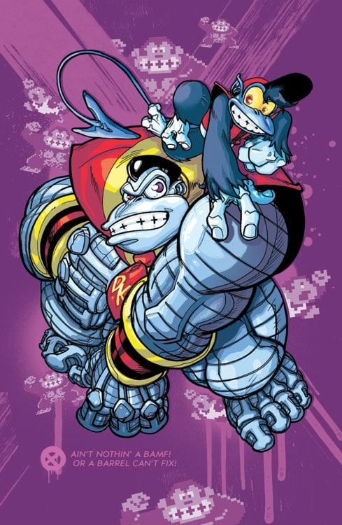 Super Mario X-Men Mashup Posters