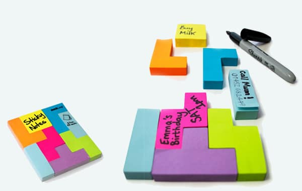Tetris Inspired Post It Notes