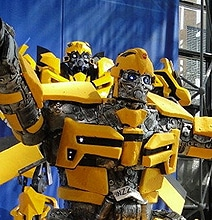 Transformers: The 2,000 Pound Bumblebee Vanilla Cake