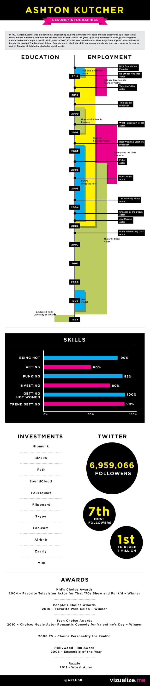 Visual Data Resume Graphics Infographics