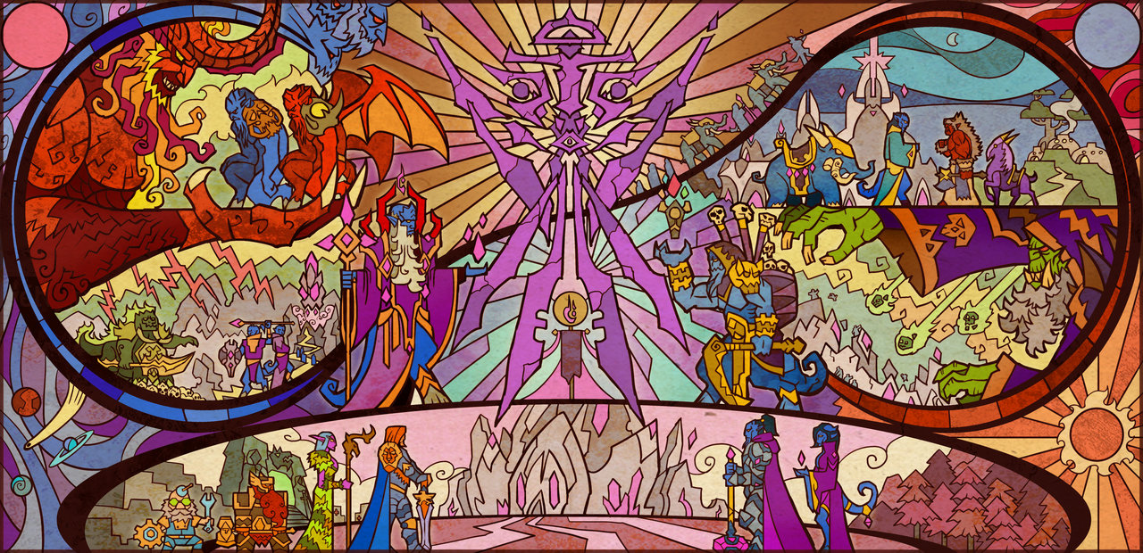 WoW and LOTR Stained Glass