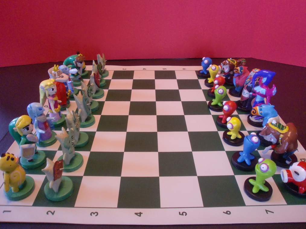 Zelda Chess: The Ultimate Hand Carved Geek Creation