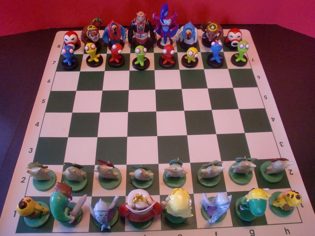 Zelda Hand Carved Chess Board