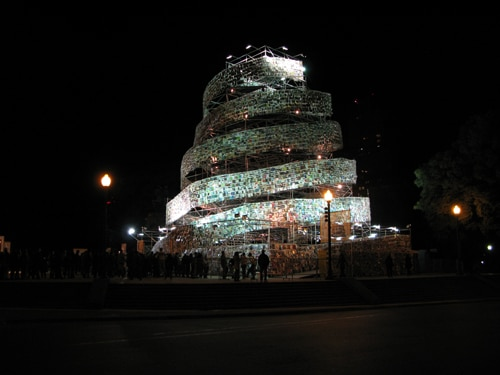 Book Tower: 30,000 Books Makes For A Mighty Sight