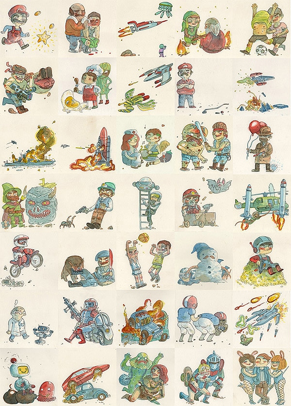 Super Mario Bros Illustrations