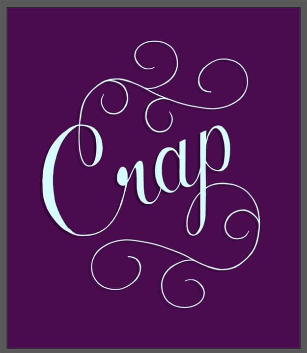 The Word Crap Drawn