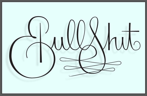 The Word Bullshit Drawn