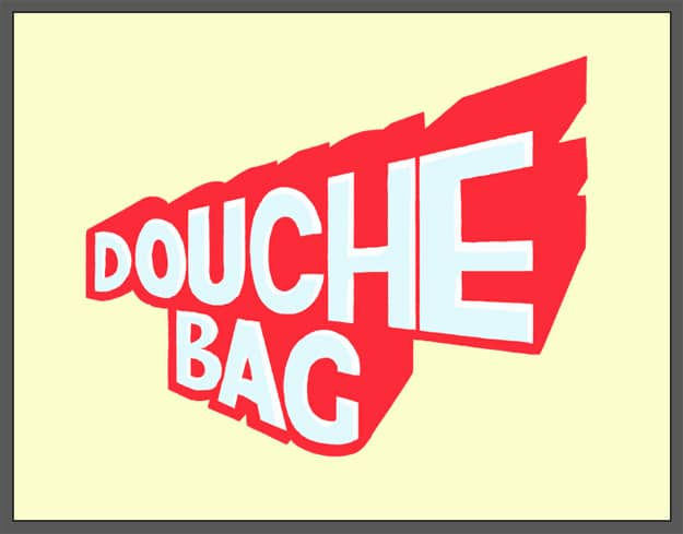 The Word Douchebag Drawn