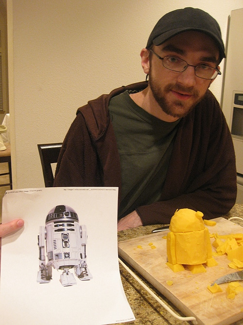 R2D2 Carved Out Of Cheese