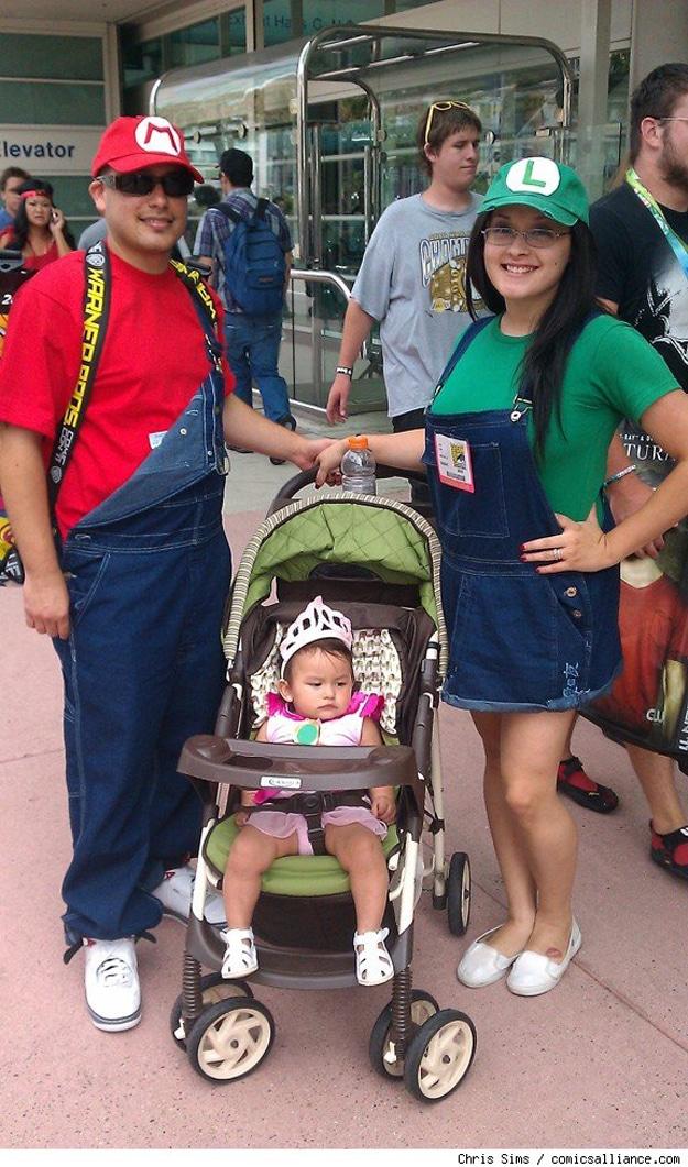 Mario and Luigi and Baby