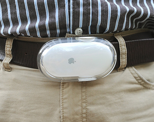 Apple Mouse Transfomed Into Buckle