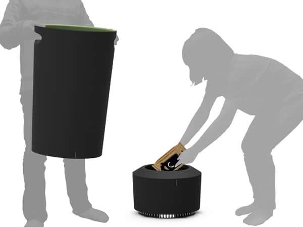 Cuum Trash Bin Garbage Eater