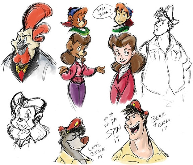 Illustration: Classic Disney Animals Drawn As Humans
