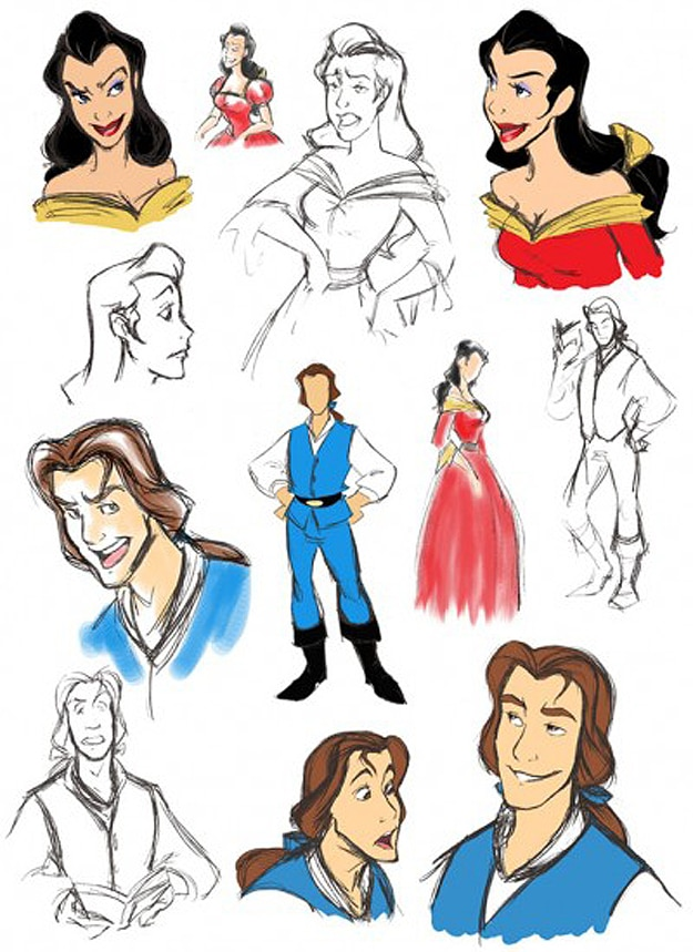 Classic Disney Characters As People