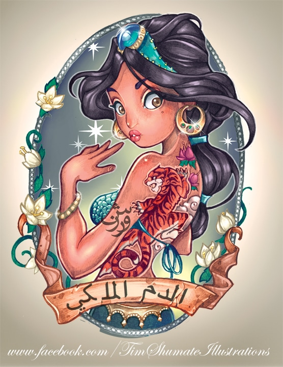 Intriguingly Awesome Cartoon Tattoo Illustrations