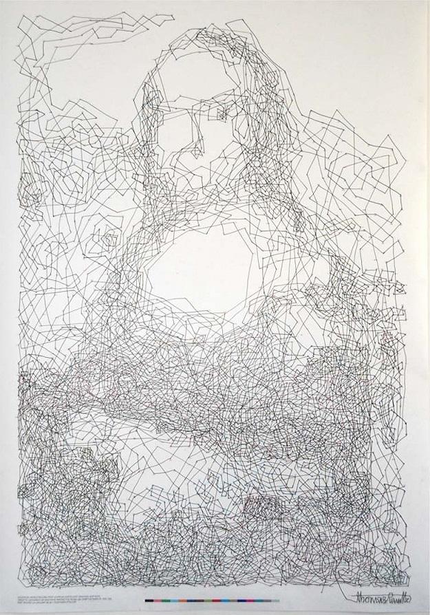 Mona Lisa Dot To Dot