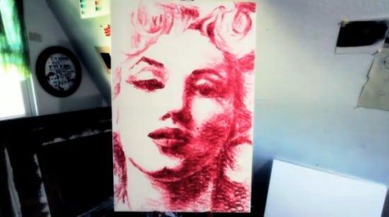 Lip Painting Marylin Monroe Art