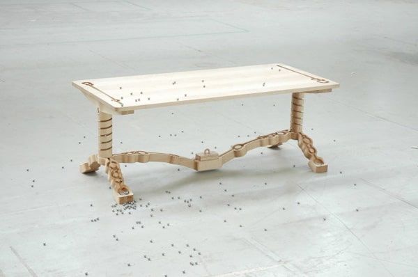 Marbelous Wooden Dining Table Design
