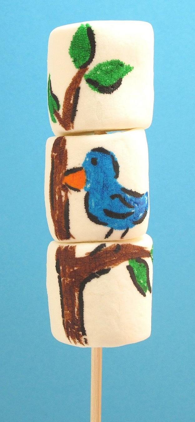 Painted Marshmallows Look Like Art
