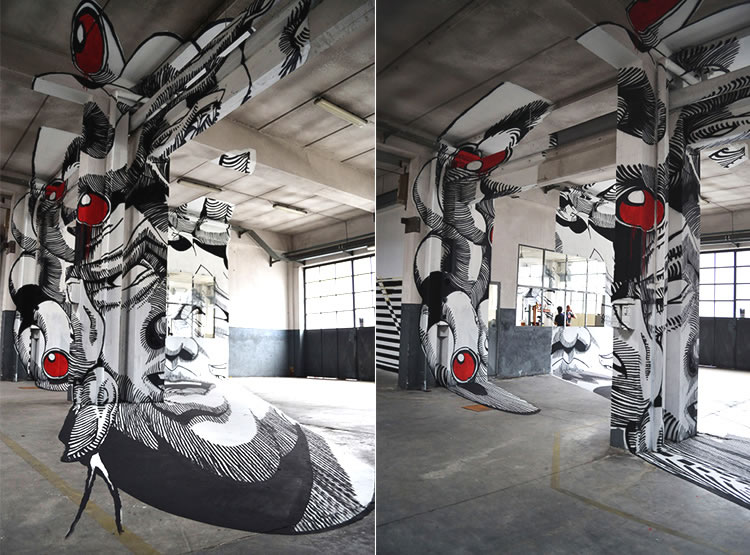 Medusa Anamorphic Street Art Design