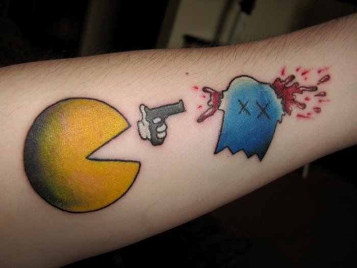 Pac Man Retro Tattoo Designs