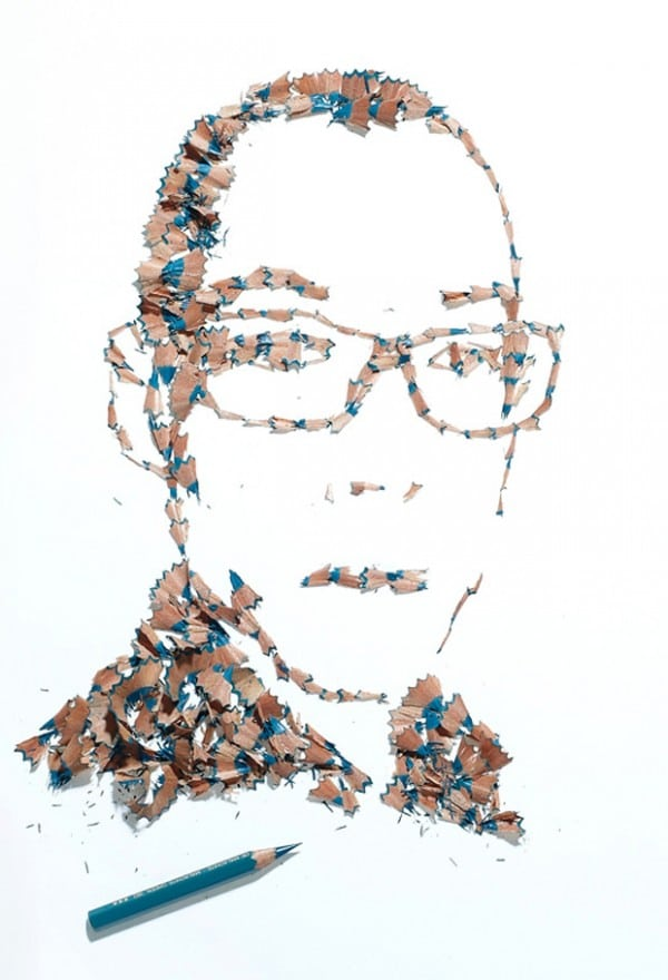 Beautiful Pencil Shaving Portraits Go Far Beyond Trash