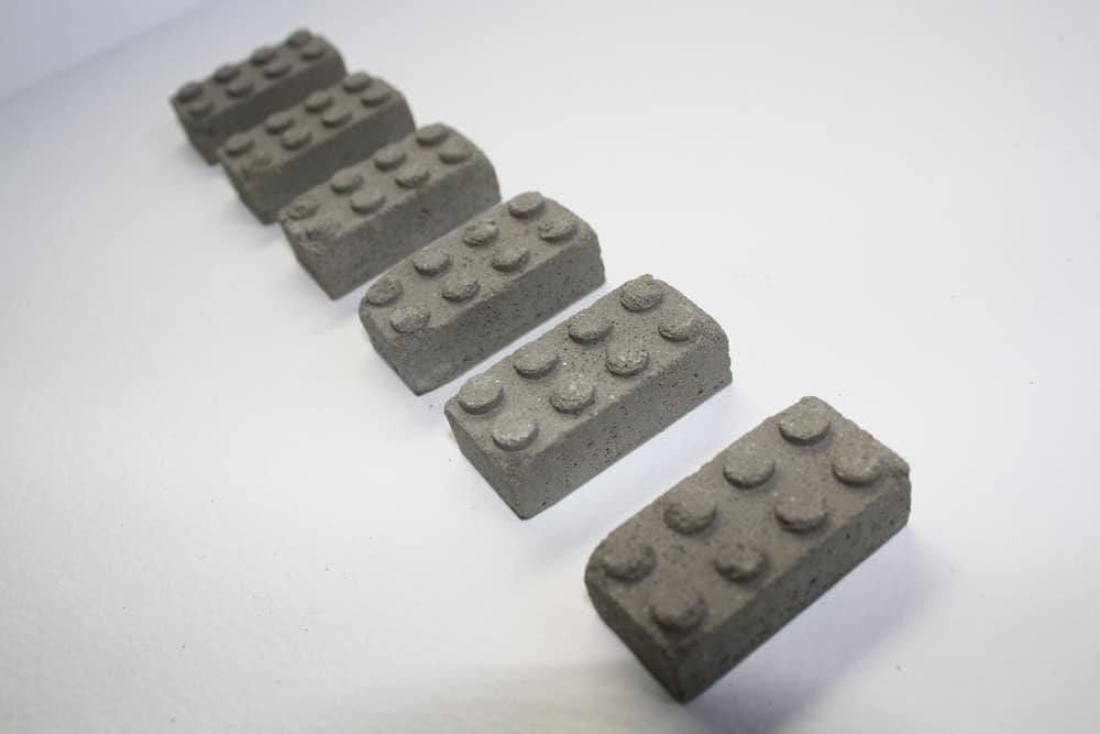 Real Concrete Lego Building Blocks