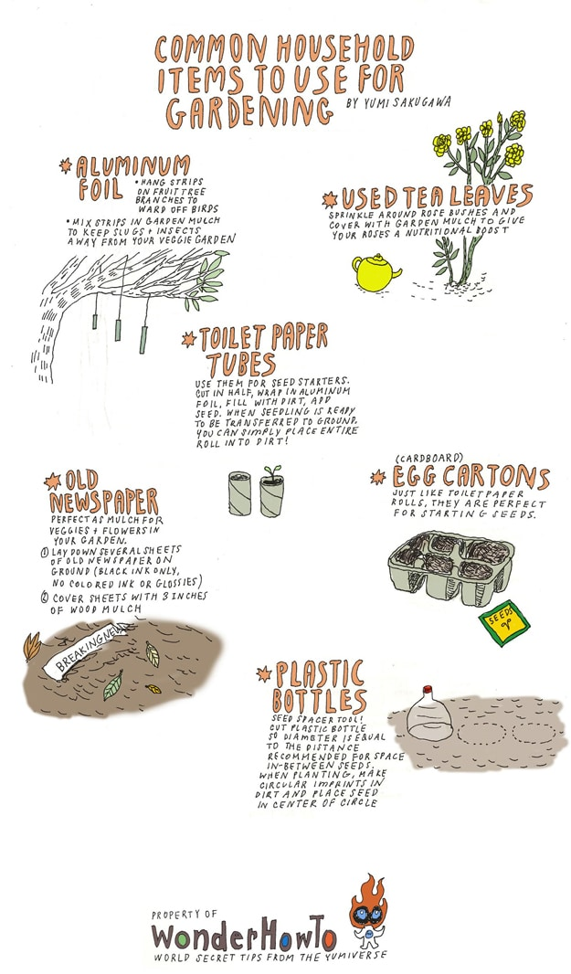 How To: Recycle & Reuse Items For Your Garden