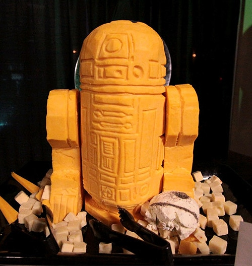 R2D2 Carved In Cheddar Cheese
