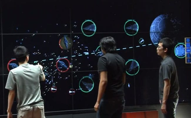 Star Wars Fleet Commander Game On A Huge Touch Wall