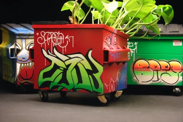 Steelplant: Punk Out Your Flowers With Desktop Graffiti Dumpsters