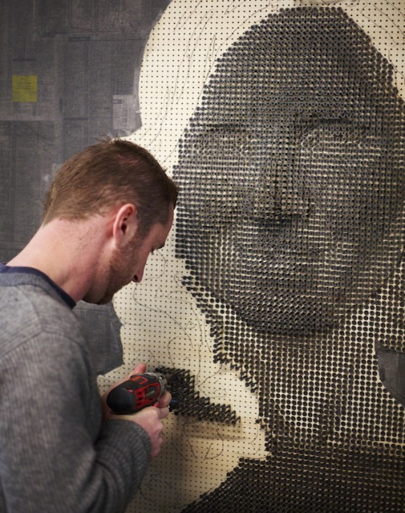 Stunning Screw Portrait Artwork Design