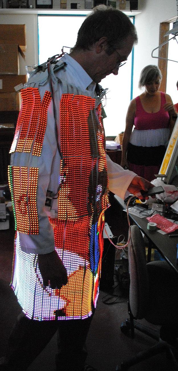 Wearable LED TV Lab Coat