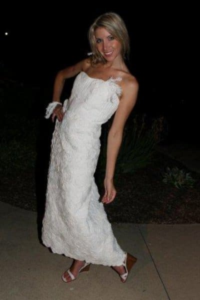 Toilet Paper Wedding Dresses For The Daring